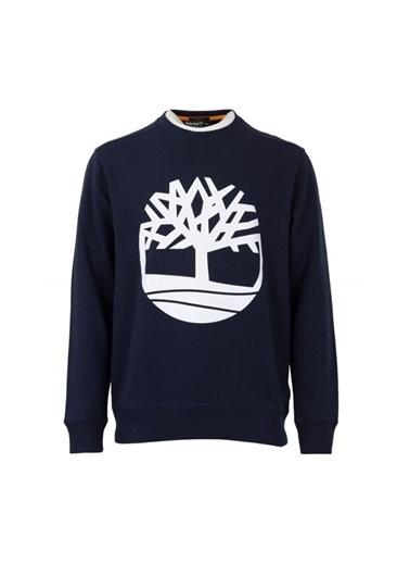 Timberland YC Core Tree Logo Crew Neck Sweatshirt TBL TB0A2BJ8U101Dark SapphXL     Mavi